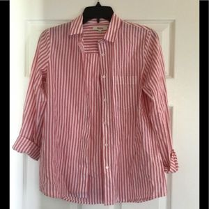 Madewell Button Down Striped Top